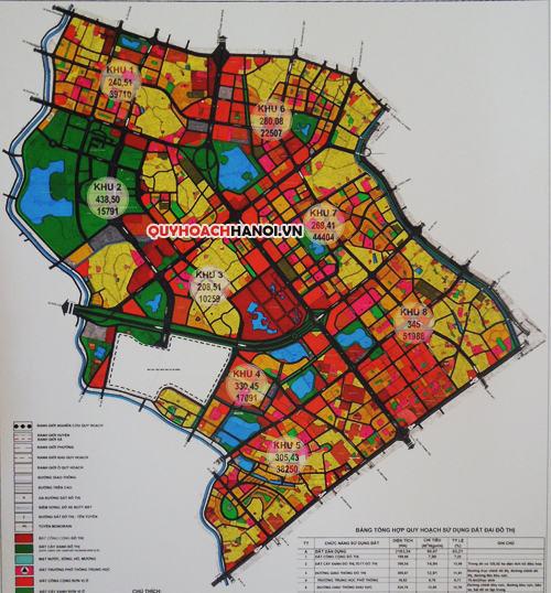 Bản đồ quy hoạch phân khu đô thị H2-2