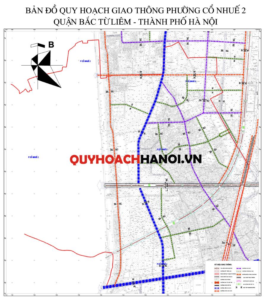 Bản đồ quy hoạch giao thông phường Cổ Nhuế 2