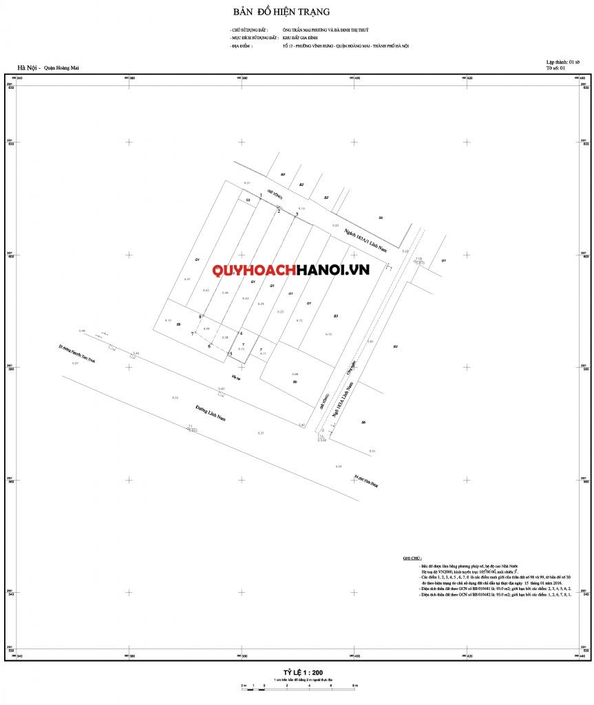 Bản đồ hiện trạng cung cấp thông tin quy hoạch Hà Nội