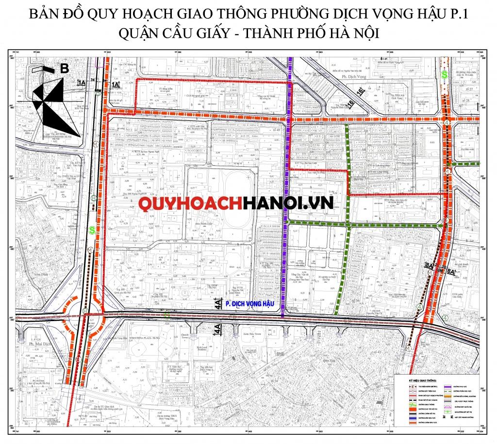 Bản đồ quy hoạch giao thông phường Dịch Vọng Hậu (P.1)