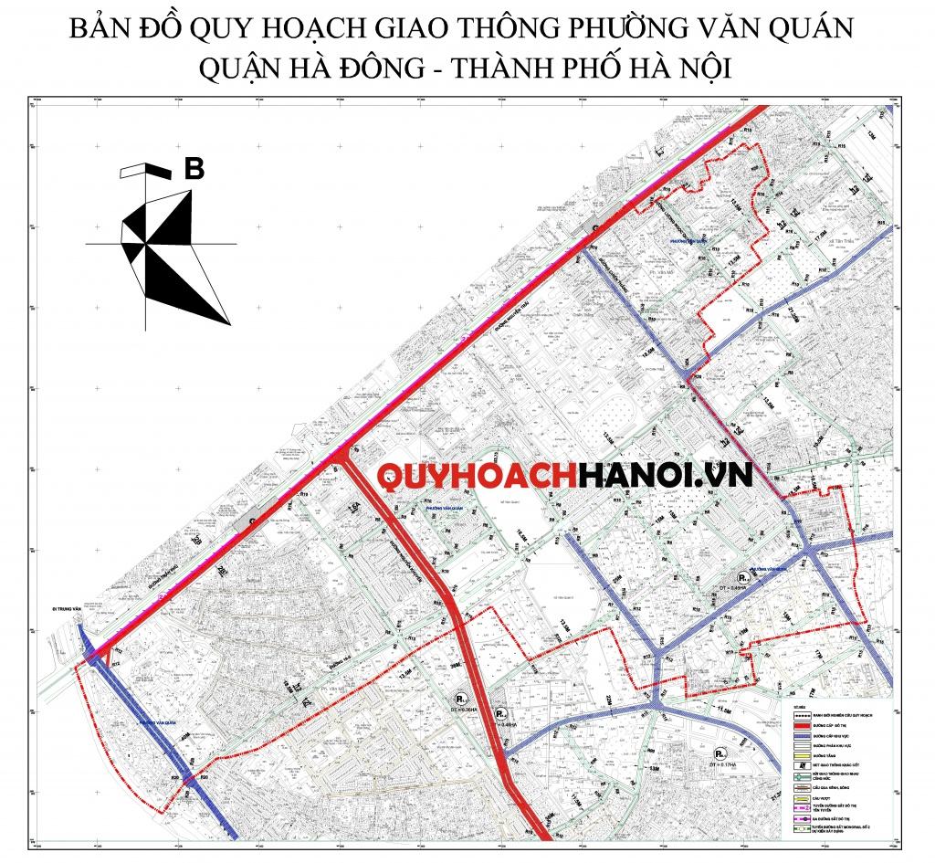 Bản đồ quy hoạch giao thông phường Văn Quán