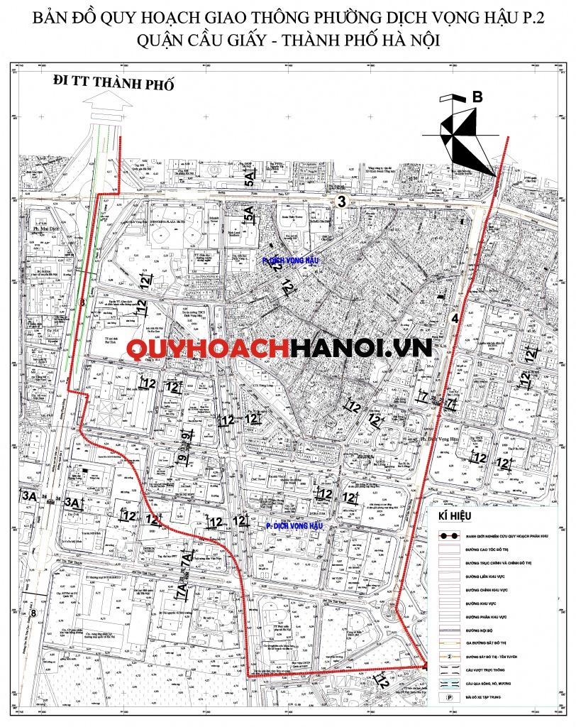 Bản đồ quy hoạch giao thông phường Dịch Vọng Hậu P2