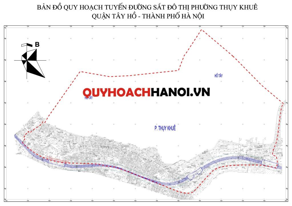 Bản đồ quy hoạch giao thông phường Thụy Khuê 2