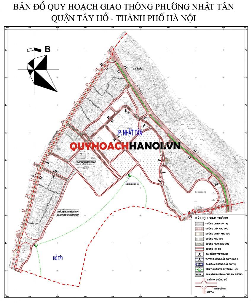 Quy hoạch giao thông phường Nhật Tân