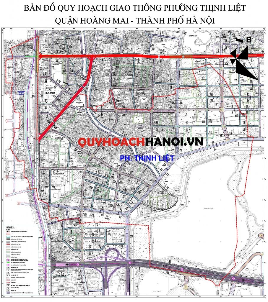 Bản đồ quy hoạch giao thông phường Thịnh Liệt