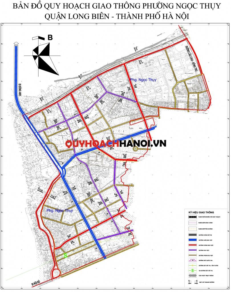 Bản đồ quy hoạch giao thông phường Ngọc Thụy