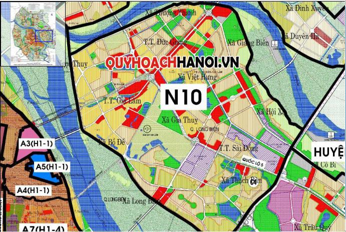 Vị trí bản đồ quy hoạch phân khu N10