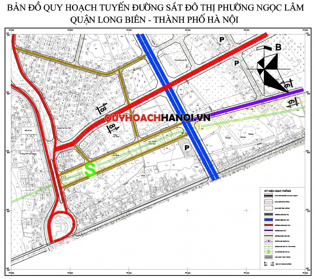 Bản đồ quy hoạch tuyến đường sắt phường Ngọc Thụy