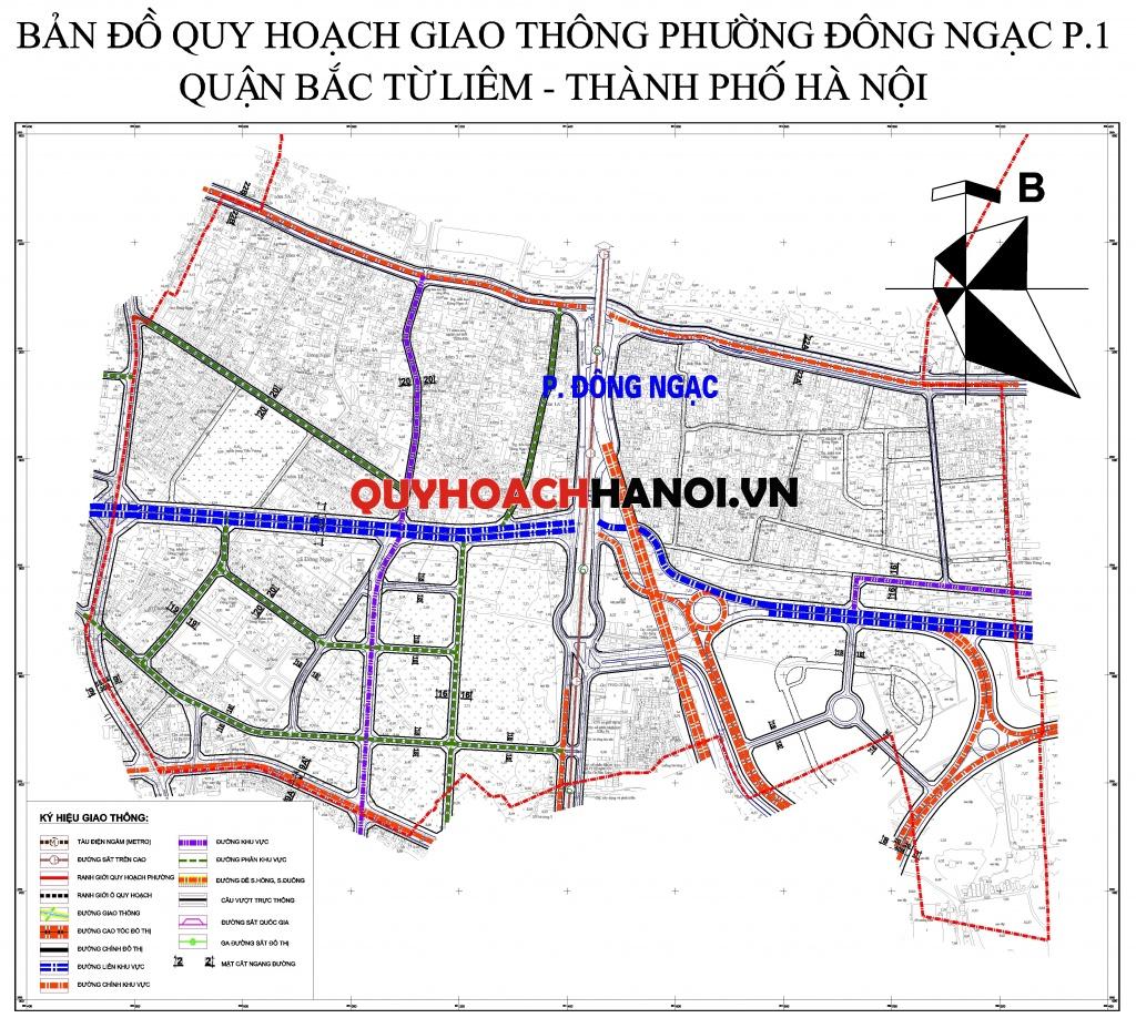 Ảnh bản đồ quy hoạch giao thông phường Đông Ngạc P1