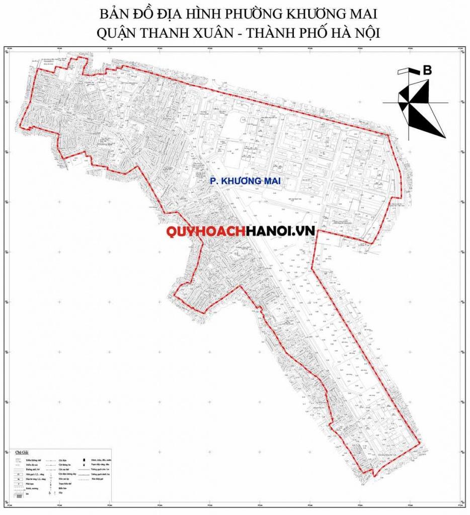Ảnh bản đồ địa hình phường Khương Mai