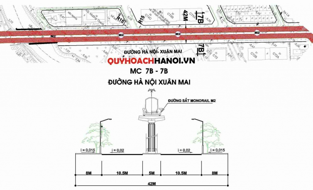 Ảnh bản đồ quy hoạch tuyến đường đô thị phường Phúc La