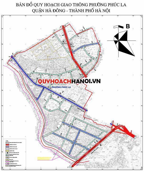 Bản đồ quy hoạch giao thông phường Phúc La