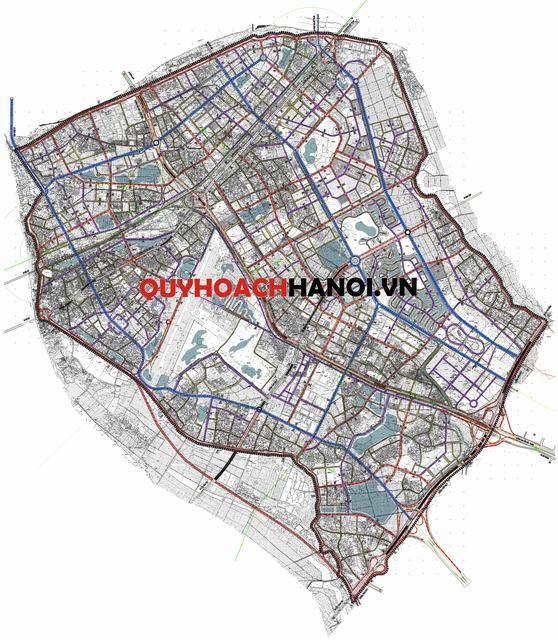 Bản đồ quy hoạch giao thông phân khu N10