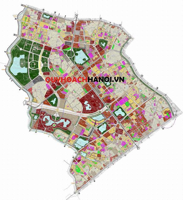 Ảnh Bản đồ quy hoạch sử dụng đất phân khu H2-2