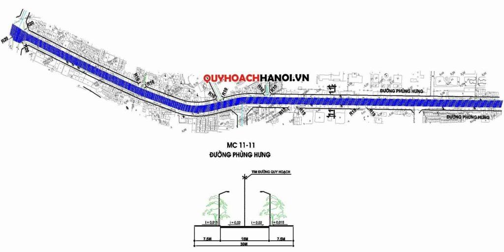 Ảnh bản đồ quy hoạch tuyến đường cấp khu vực phường Phúc La