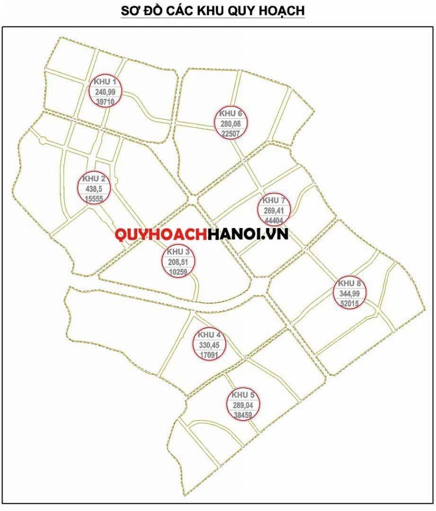 Các khu quy hoạch bản đồ quy hoạch sử dụng đất phân khu H2-2