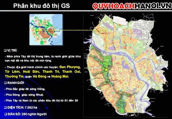 Ảnh vị trí bản đồ quy hoạch phân khu GS