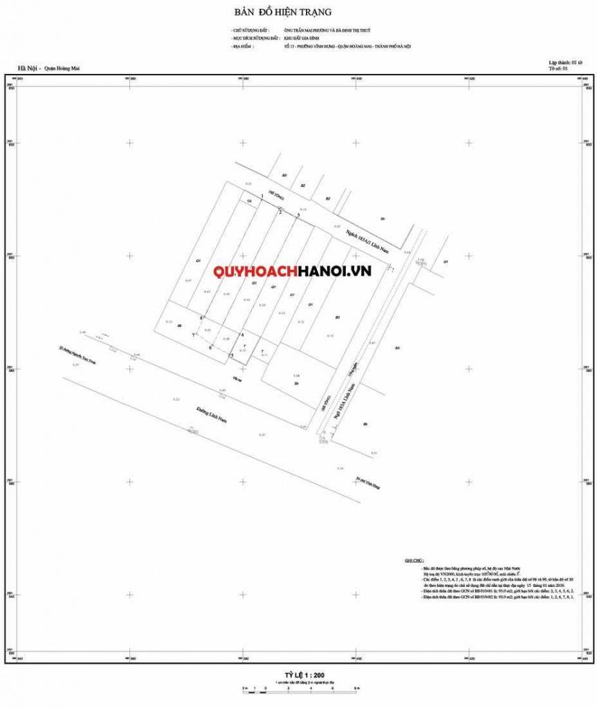 Bản đồ cung cấp thông tin quy hoạch quận Nam Từ Liêm