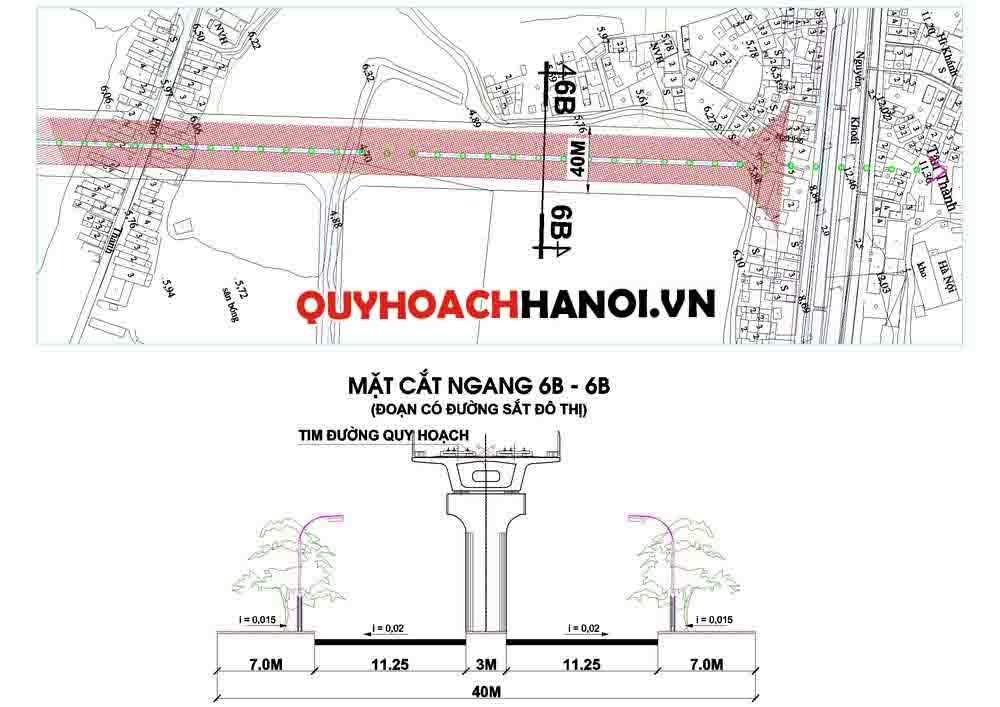 Bản đồ quy hoạch giao thông liên khu vực phường Thanh Trì
