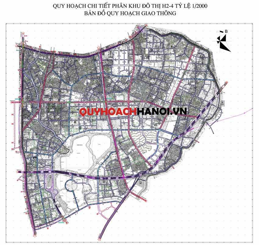 Ảnh bản đồ quy hoạch giao thông phân khu H2-4