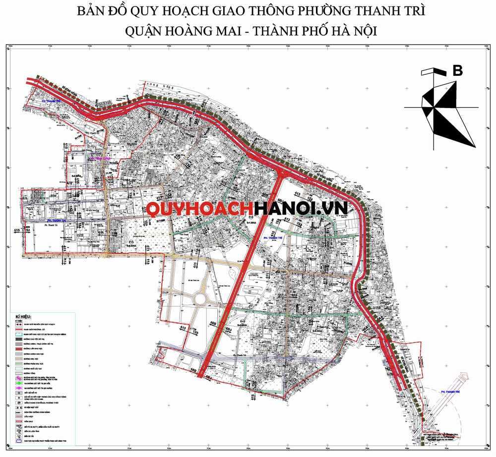 Bản đồ quy hoạch giao thông phường Thanh Trì