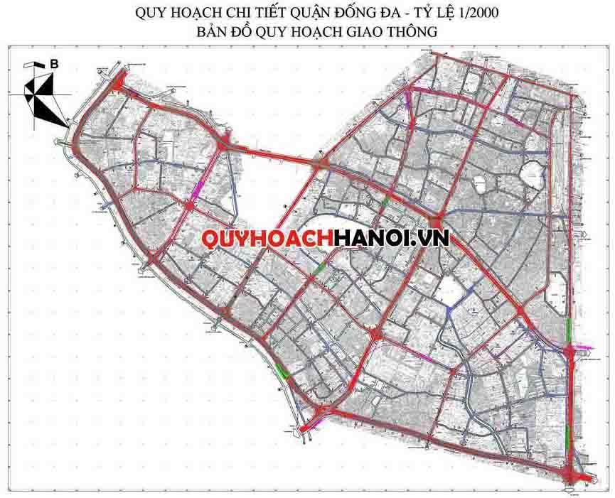 Bản đồ quy hoạch giao thông quận Đống Đa