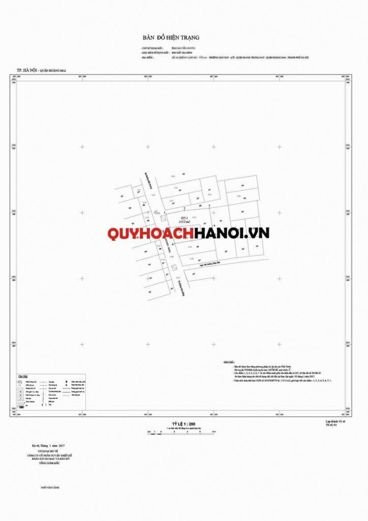 Bản đồ hiện trạng phục vụ Lập chỉ giới đường đỏ quận Hoàng Mai 2