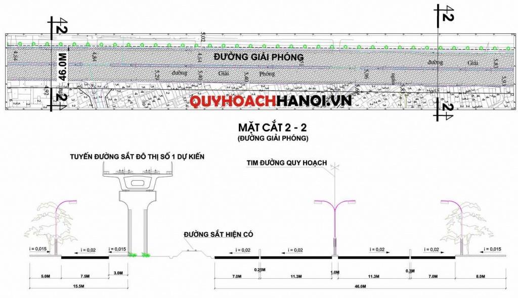 Bản đồ quy hoạch đường cấp đô thị phường Giáp Bát