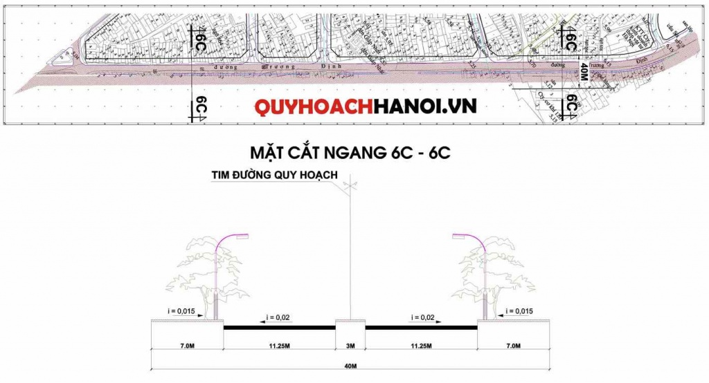 Bản đồ quy hoạch đường liên khu vực phường Giáp Bát