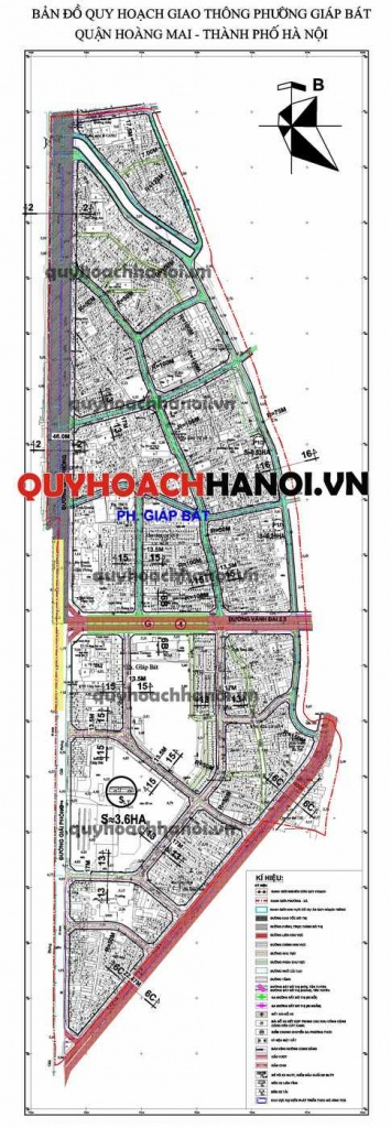 Bản đồ quy hoạch giao thông phường Giáp Bát