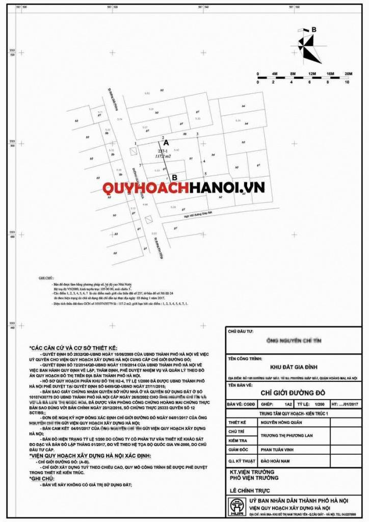 Báo giá lập chỉ giới đường đỏ tại Hà Nội