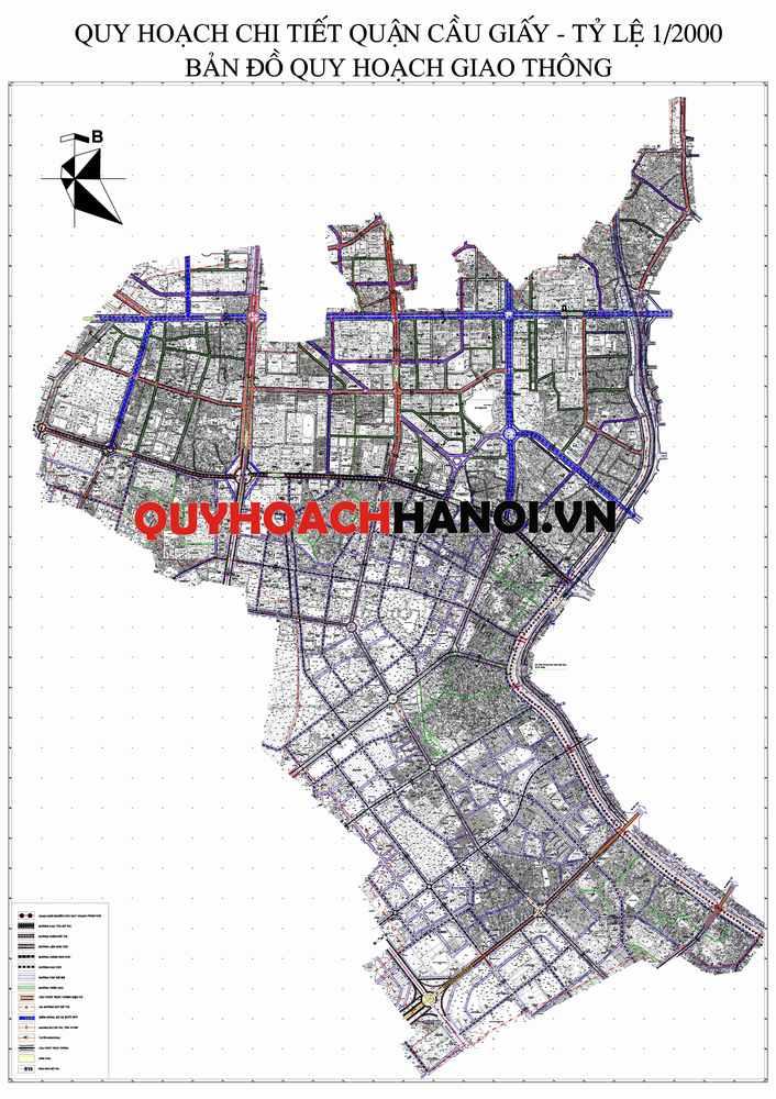 Ảnh bản đồ quy hoạch giao thông quận Cầu Giấy