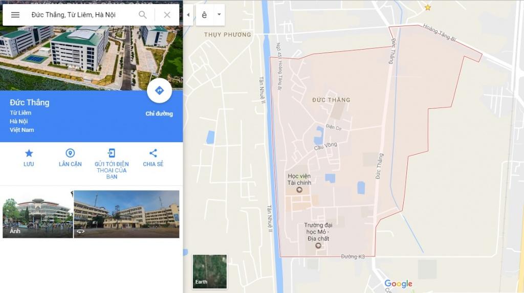 Ranh giới Bản đồ quy hoạch giao thông phường Đức Thắng
