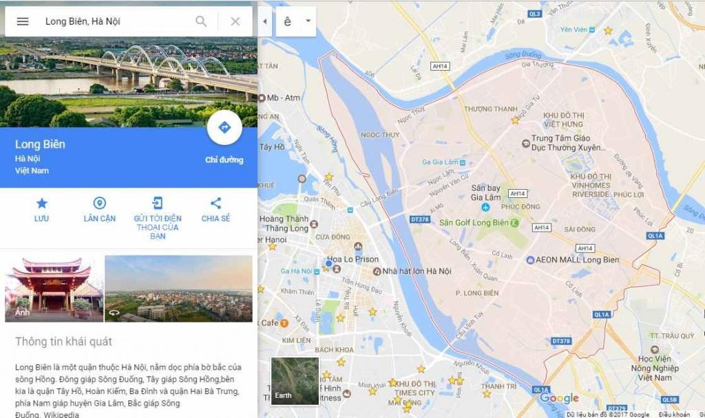 Ranh giới quận Long Biên
