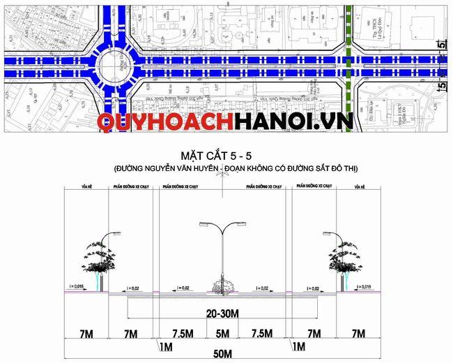 Bản đồ quy hoạch đường đô thị phường Nghĩa Đô
