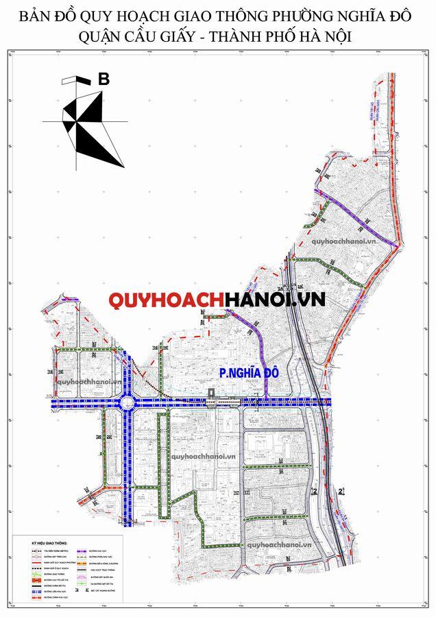 Bản đồ quy hoạch giao thông phường Nghĩa Đô