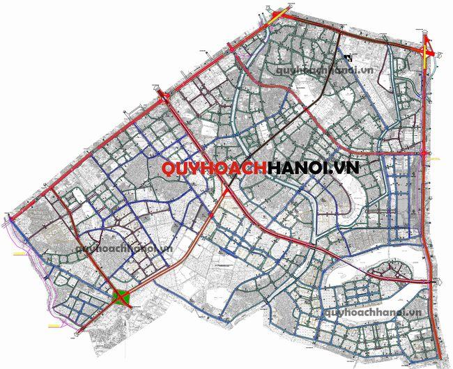 Bản đồ quy hoạch giao thông phân khu H2-3