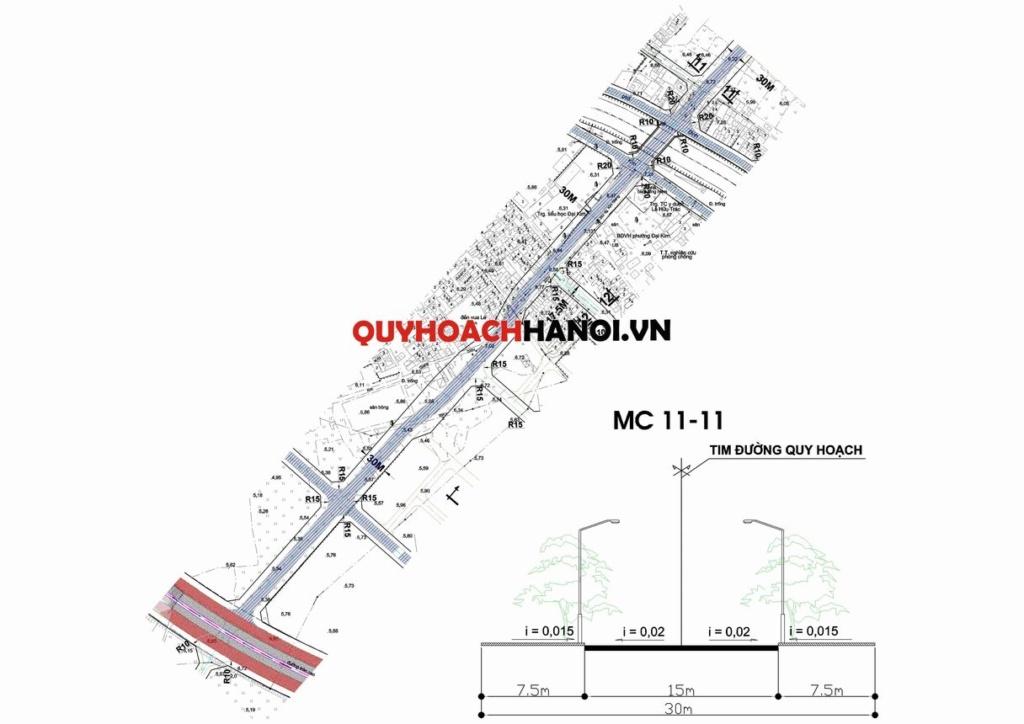 Ảnh bản đồ quy hoạch đường khu vực quận Hoàng Mai