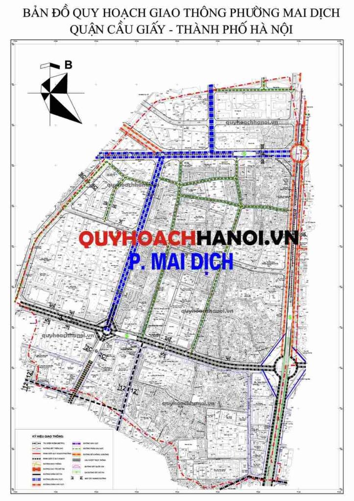 Bản đồ quy hoạch giao thông phường Mai Dịch