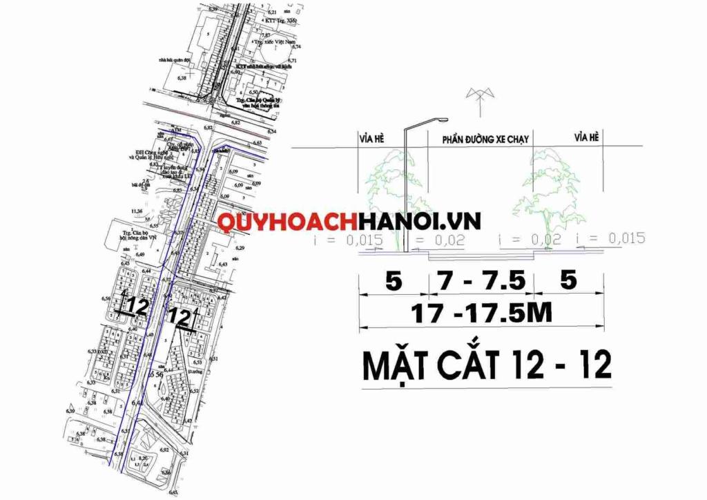 Bản đồ quy hoạch giao thông đường cấp khu vực phường Mai Dịch