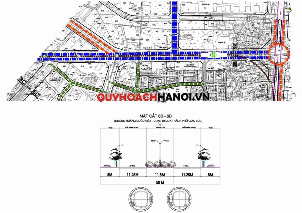 Bản đồ quy hoạch giao thông đường chính khu vực phường Mai Dịch