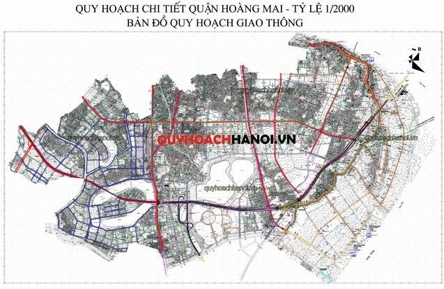 Bản đồ quy hoạch giao thông quận Hoàng Mai small