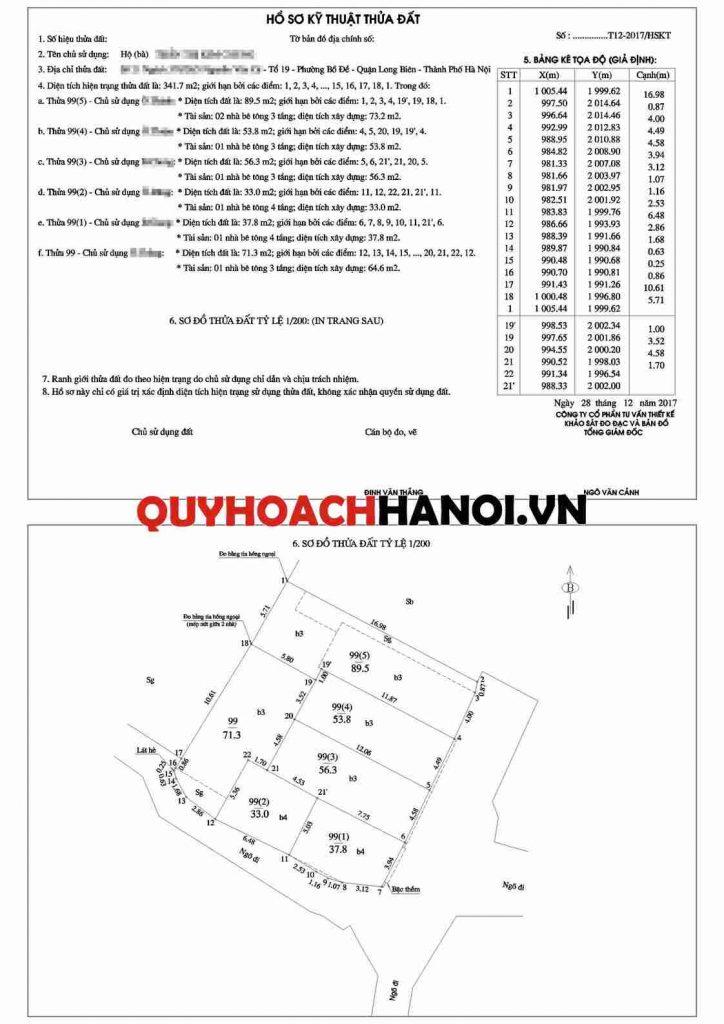 Đo đạc địa chính quận Long Biên mẫu 2