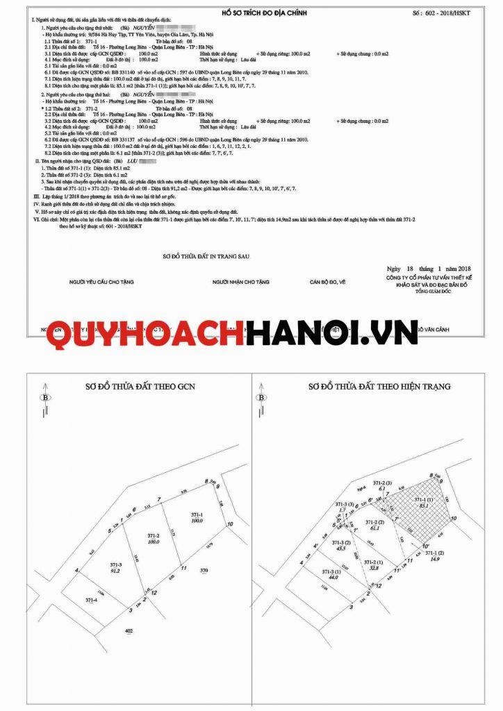 Đo đạc tách thửa quận Long Biên 3