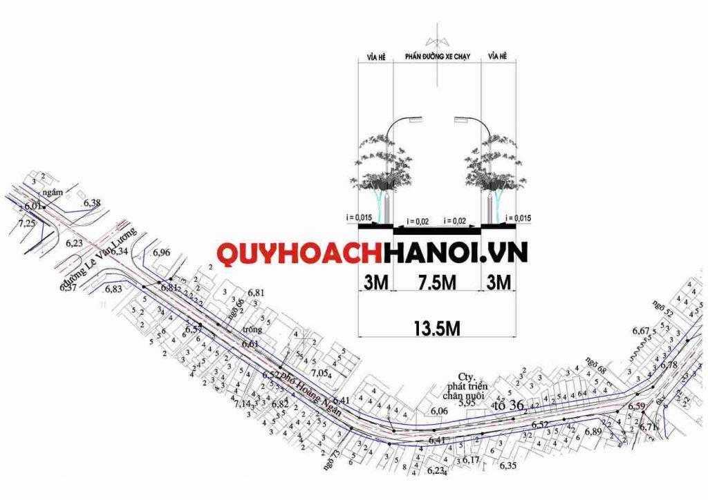 Bản đồ quy hoạch đường nội bộ phường Nhân Chính