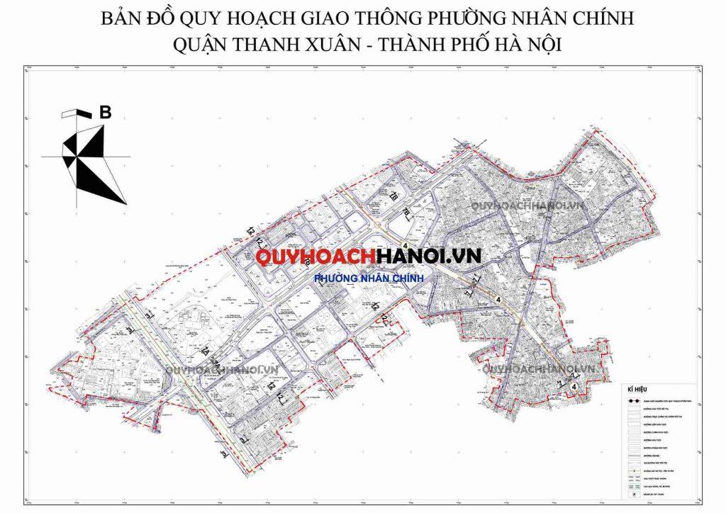 Ảnh bản đồ quy hoạch giao thông phường Nhân Chính