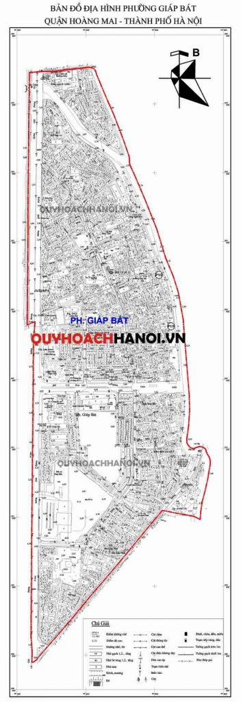 Ảnh bản đồ địa hình phường Giáp Bátquận Hoàng Mai