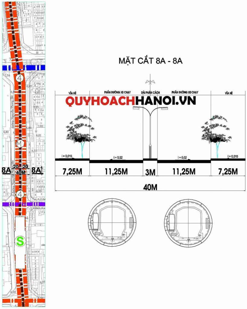 Ảnh bản đồ quy hoạch đường sắt đô thị phường Nghĩa Tân quận Cầu Giấy