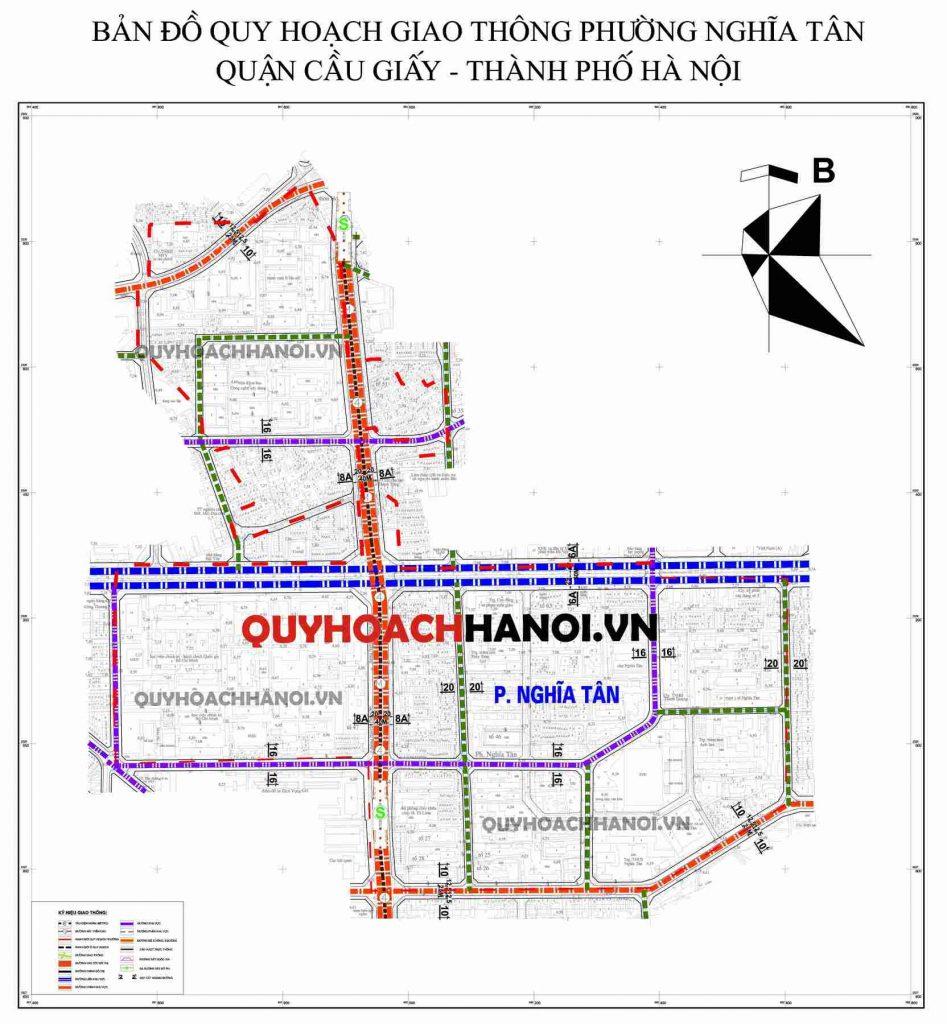 Ảnh bản đồ quy hoạch giao thông phường Nghĩa Tânquận Cầu Giấy
