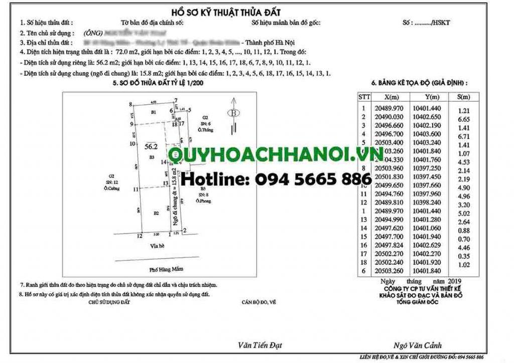 Hồ sơ báo giá dịch vụ đo đạc Hà Nội mẫu 1